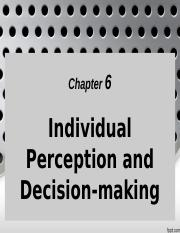 chap 6_individual perception and decision making_dr rosmah_161