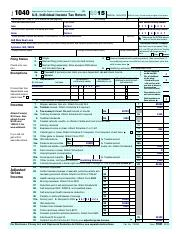 Sample Tax Return - Form 1040 2015(99 Department of the ...