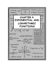 Exponential Log Worksheet - Exponential and Log Functions ...