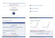 Calculus Lecture Note 9
