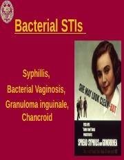 Lecture 4 - Additional Bacterial STIs.ppt