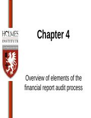 Lecture 3  - T2 2017 - Overview of elements of the financial report audit process (1).ppt