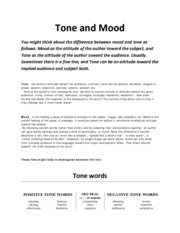 Tone and Mood words (unedited) (1)