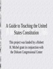 guide_to_teaching_the_u.s._consitution.ppt