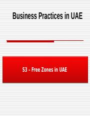 PPT S3 Free Zones in UAE.ppt
