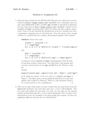 Assignment 2 Solution Fall 2008 on Introduction to Statistics