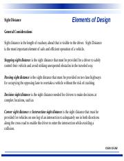 #6- Elements of Design- Sight Distance.ppt