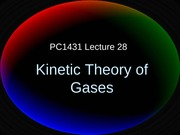 PC1431-2008-1-L27 Kinetic Theory of Gases