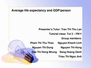 Average life expectancy and GDP