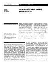 Iron ochydroxide colloids.pdf
