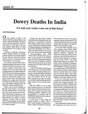 Mandelbaum_Dowry_Deaths_in_India