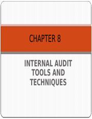 Chapter 8 Internal Audit Tools And Techniques Pptx Chapter 8 Internal Audit Tools And Techniques 1 Learning Objectives After Going Through This Course Hero