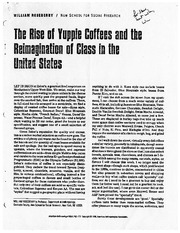 Roseberry_The rise of yuppie coffees and the reimagination of class in the US