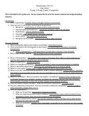 General Psychology Exam 1 Study Guide .docx