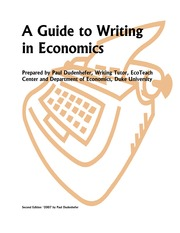 A Guide to Writing in Economics