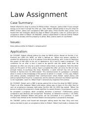 Law Assignment