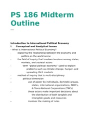 PS 186 Midterm Outline