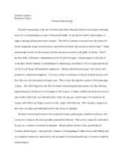 forensic nursing research paper