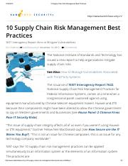 10 Supply Chain Risk Management Best Practices.pdf