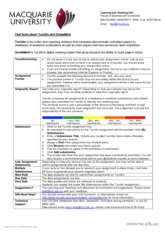 AFIN353 2012 Major Assignment - Student Reference Guide Turnitin and GradeMark [Fri 12Oct12]