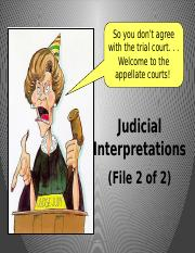 Part 6 Judicial Interpretations 2