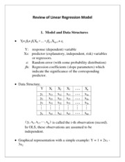 Note 1 - Linear Regression Models Review
