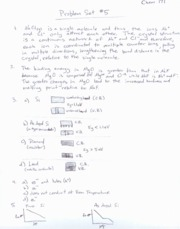 CHEM171 ProblemSet5Solutions