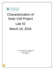 new solar cell lab report.doc