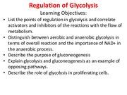 17 NOTED Regulation of Glycolysis