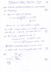 Answers to 3H Dynamical Systems Degree Examination 2012 (Solutions)