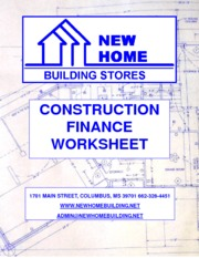 Construction Finance Worksheet