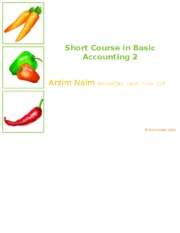 Financial and Managerial Accounting 2