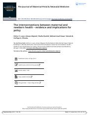 The interconnections between maternal and newborn health evidence and implications for policy.pdf