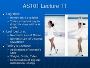 AS101 Lecture 11