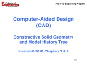 Inventor_Const Solid Geometry and Model History Tree_Rev07_16_2009