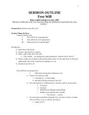 Sermon Outline 01-22-17 Free Will.docx