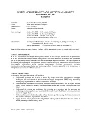 scm 372 final review Previous supply chain management (scm) literature reviews and  372 n  asgari et al 523 small and medium-sized enterprises.