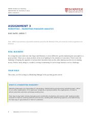BUS508 Assignment3 Marketing Manager Analysis