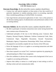 Knowledge Skills Abilities (LAW 3050 - Business Law II)