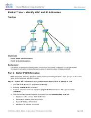 5.1.4.4 Packet Tracer - Identify MAC and IP Addres (1)