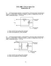 Homework 3 on Circuit Analysis