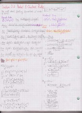 Chapter 3.2 & 3.3 Product and Quotient Rules & Derivative of Trig Functions