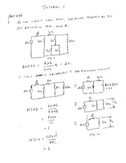 EE 3N03 Fall 2011 Tutorial 1 Solutions