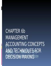 Chapter 6b Techniques in Decision Making