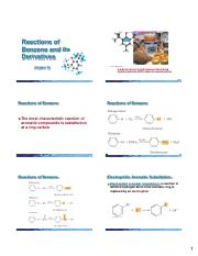 Chapter 22 (Reactions of Benzene) 6  Slides per Page