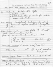Written notes Computational Methods Dynamical Systems