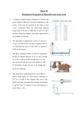 Sheet_2 Mechanical Properties of Materials and Axial Load