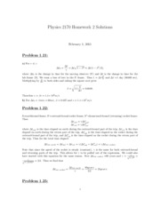 PHYS 2170 HW 2 Solutions