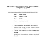 2013 2012 2011 batch Registration procedure