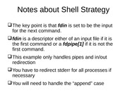 Notes about Shell Strategy